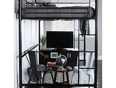 Kylie Black Full Size Loft Bed, Black, large