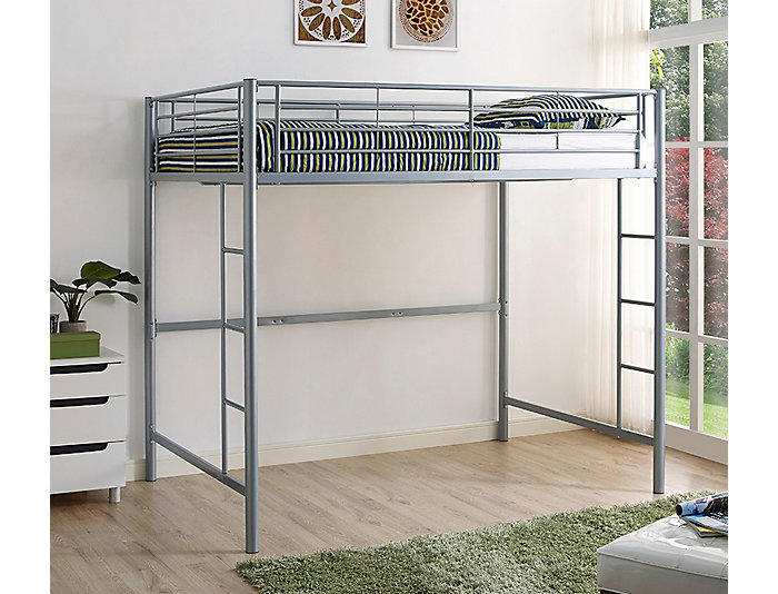 Kylie Silver Full Loft Bed, , large