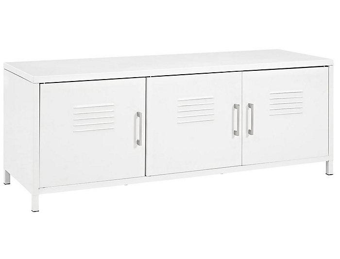 Davis Locker Storage Bench, White, , large