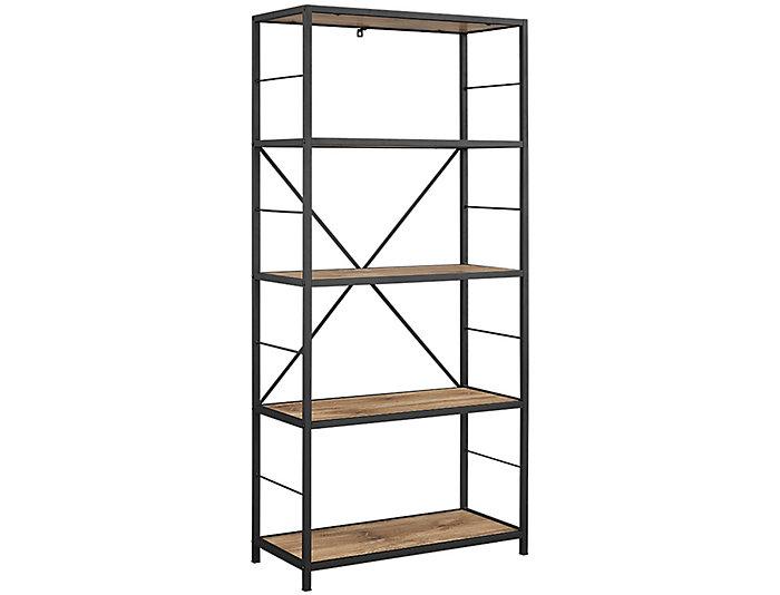 """Austin 60"""" Barnwood Bookcase, , large"""