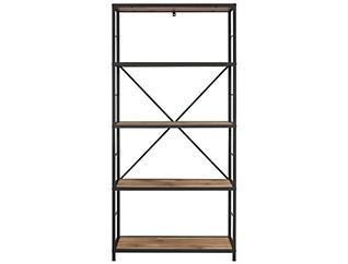 """Austin 60"""" Barnwood Bookcase, Beige, large"""