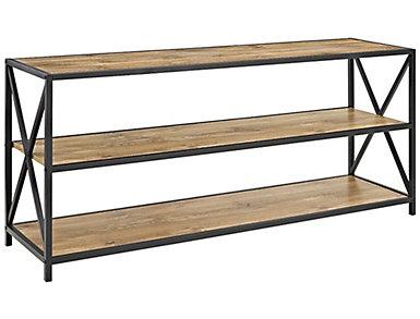 """Austin 30"""" Barnwood Bookcase, , large"""