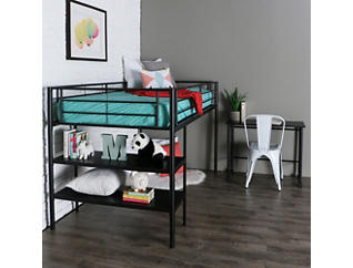 Kylie Twin Low Loft With Desk, , large