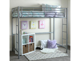 Kylie Silver Twin Loft Bed, , large