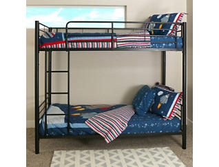 Kylie Black Twin Bunk Bed, , large