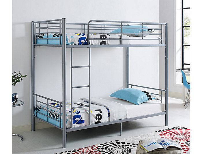 Kylie Silver Twin Bunk Bed, , large