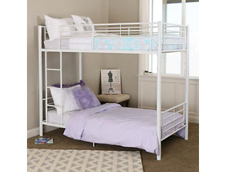 Kylie White Twin Bunk Bed, , large