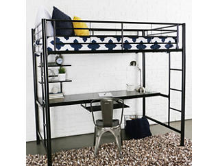 Kylie Twin Loft Bed With Desk, , large