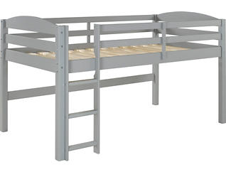 Solid Wood Low Twin Loft-Grey, , large