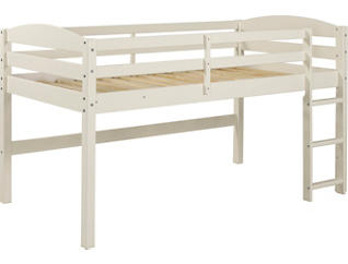 Solid Wood Low Loft Twin Bed, , large
