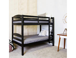 Max Black Twin Bunk Bed, Black, large