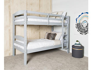Max Grey Twin Bunk Bed, , large