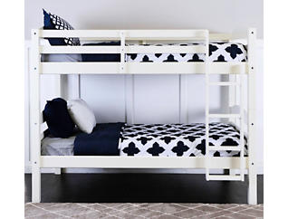 Max White Twin Bunk Bed, , large