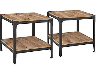 cherry end tables living room. barnwood end tables set of 2 cherry living room