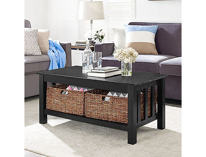 Cottage Coffee Table, Black, , large