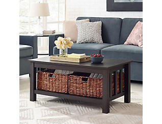 Cottage Coffee Table, Espresso Brown, , large