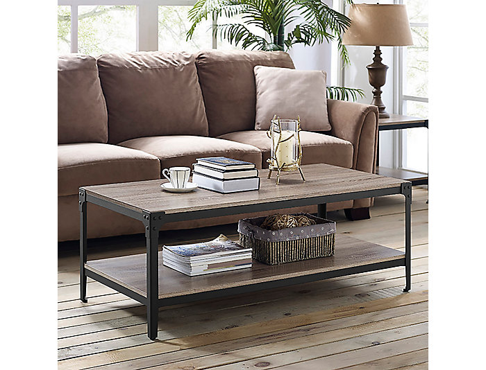 Angles Driftwood Coffee Table,, , large