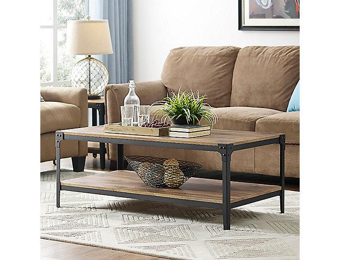 Angles Barnwood Coffee Table, Brown, , large