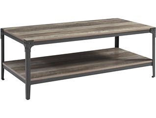 Cole Grey Wash Coffee Table, , large