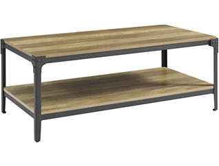 Cole Rustic Oak Coffee Table, , large