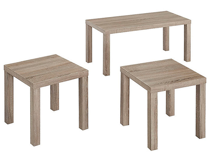 Harlow 3 Pc Coffee Table Set, , large