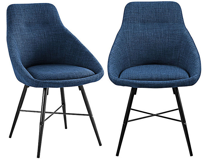 Blue Dining Chairs Set of 2, , large
