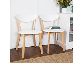 Retro Dining Chairs Set of 2, , large