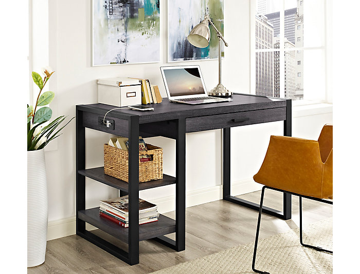Micah USB Charcoal Desk, , large