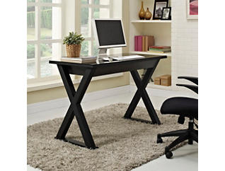 "Piper 48"" Black Metal Desk, , large"