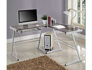 Rory Grey Corner Desk, , large