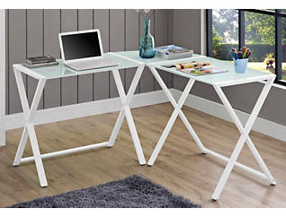 Scout White Corner Desk, , large