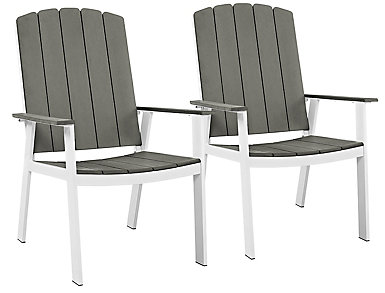 Coastal Dining Chair (Set of 2), Grey, , large