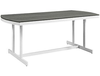 Coastal Dining Table, Grey, , large