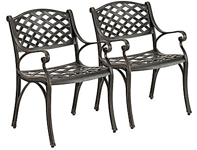 Sicily Chair (Set of 2), Brown, , large