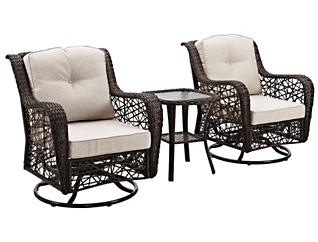 Belize 3 Piece Brown Chat Set, , large