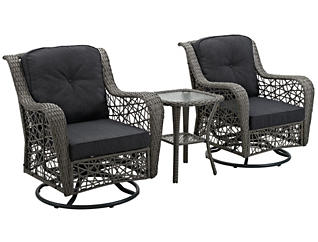 Belize 3 Piece Grey Chat Set, , large