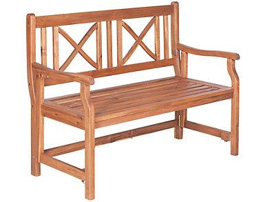 Rio Acacia Folding Bench, Natural, , large