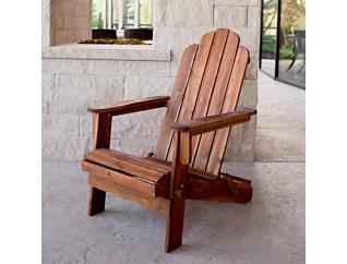 Laredo Adirondack Brown Chair, , large