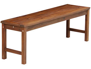 Aspen Acacia Brown Bench, , large