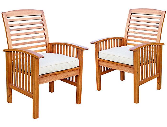 Aspen Acacia Chair (Set of 2), , large
