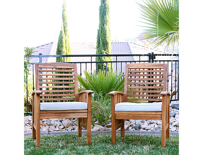Aspen Acacia Chair (Set of 2), Beige, , large