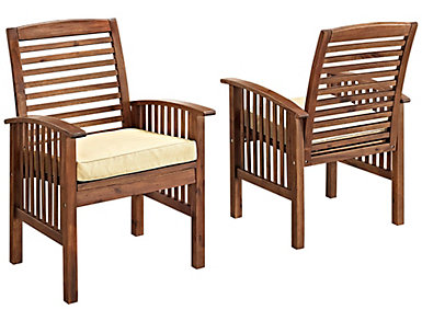 Aspen Brown Chair (Set of 2), Brown, , large