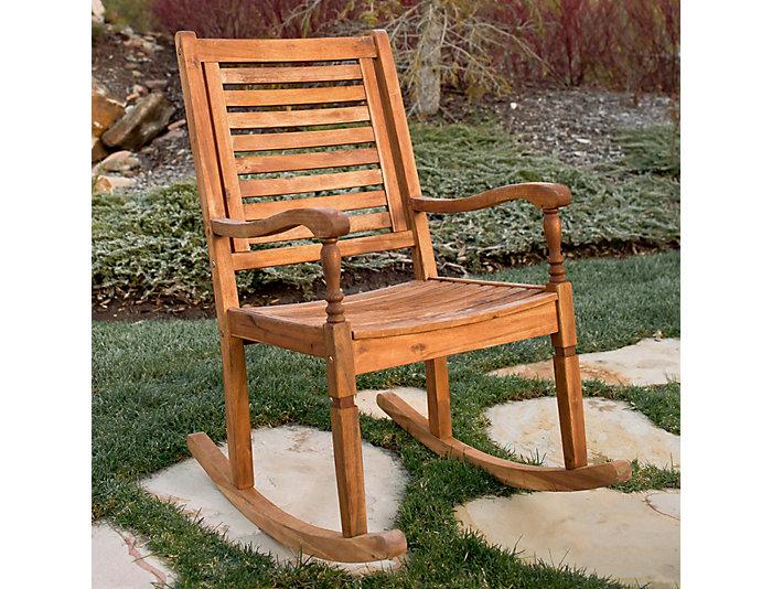 Helena Acacia Rocking Chair, Natural, , large