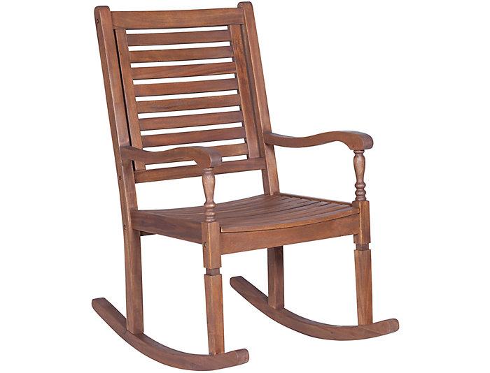 Helena Brown Rocking Chair, Natural, , large