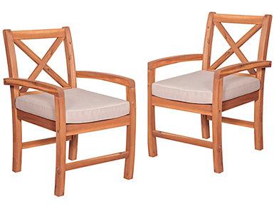 Juno Acacia Chair (Set of 2), Brown, , large