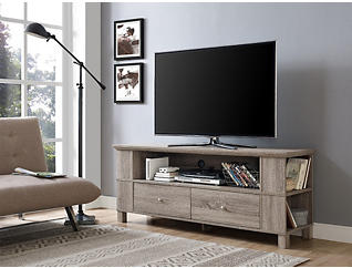 """Sierra 60"""" Driftwood TV Stand, Brown, large"""