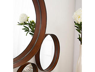 Hazel Banded Copper Mirror (Set of 3), , large