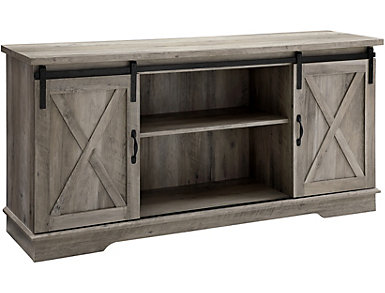 """Grixdale 58"""" Grey TV Stand, , large"""