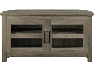 """Town 44"""" Grey Corner TV Stand, , large"""