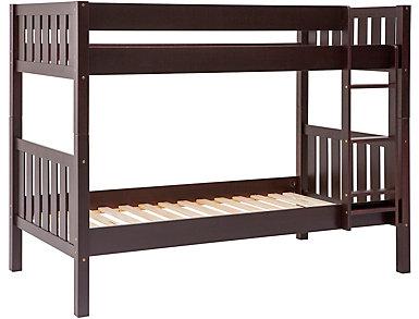 Wood Cottage Bunk Bed Espresso, , large